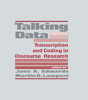 Talking Data Transcription and Coding in Discourse Research book cover