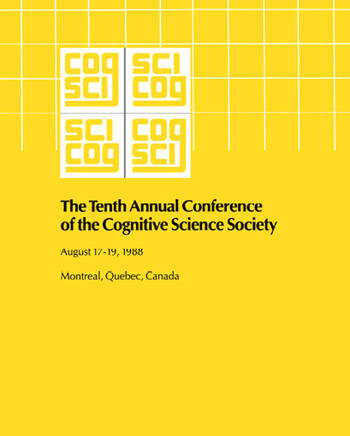 10th Annual Conference Cognitive Science Society Pod book cover