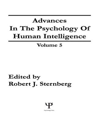 Advances in the Psychology of Human Intelligence Volume 5 book cover