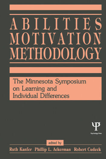 Abilities, Motivation and Methodology The Minnesota Symposium on Learning and Individual Differences book cover