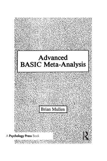 Advanced Basic Meta-analysis Version 1.10 book cover