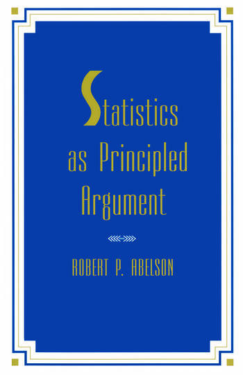 Statistics As Principled Argument book cover