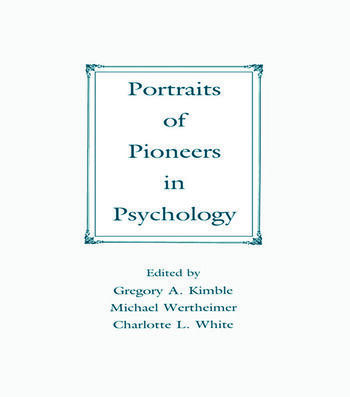 Portraits of Pioneers in Psychology book cover