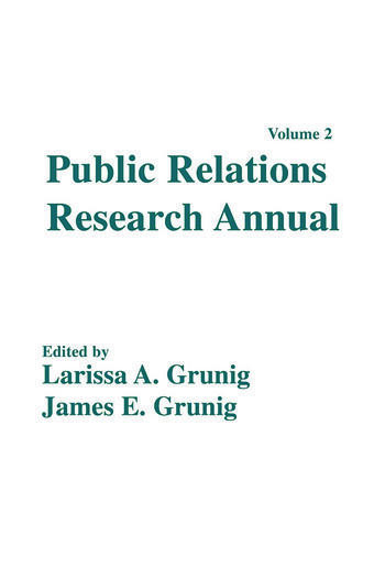 Public Relations Research Annual Volume 2 book cover