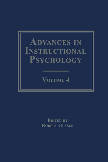 Advances in instructional Psychology Volume 4 book cover