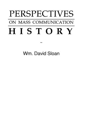 Perspectives on Mass Communication History book cover