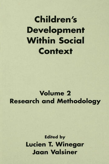 Children's Development Within Social Context Volume II: Research and Methodology book cover