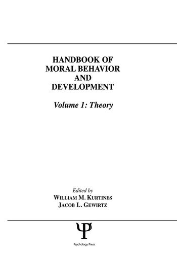 Handbook of Moral Behavior and Development Volume 1: Theory book cover