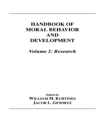 Handbook of Moral Behavior and Development Volume 2: Research book cover