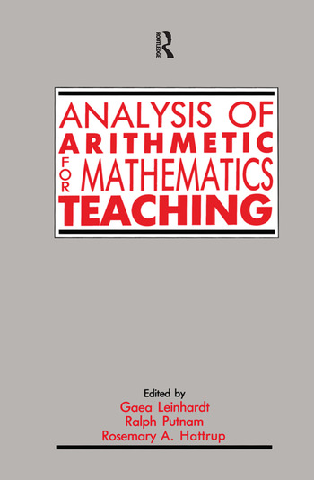 Analysis of Arithmetic for Mathematics Teaching book cover