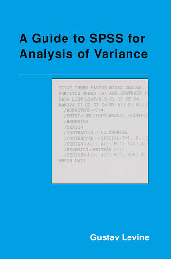 A Guide to SPSS for Analysis of Variance book cover