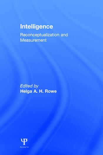 Intelligence Reconceptualization and Measurement book cover