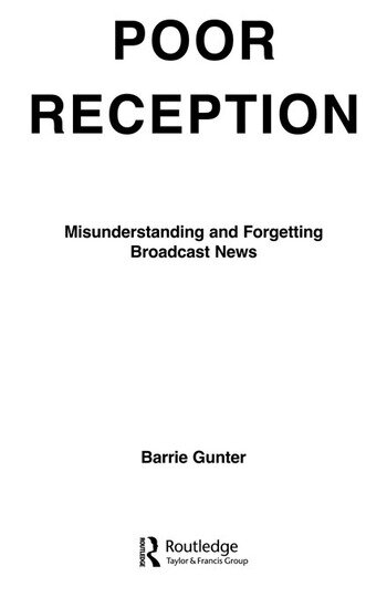 Poor Reception Misunderstanding and Forgetting Broadcast News book cover
