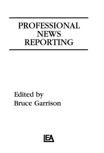 Professional News Reporting book cover