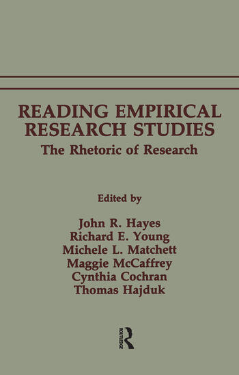 Reading Empirical Research Studies The Rhetoric of Research book cover
