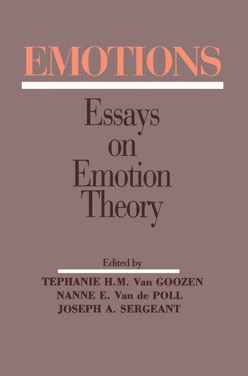 Emotions Essays on Emotion Theory book cover
