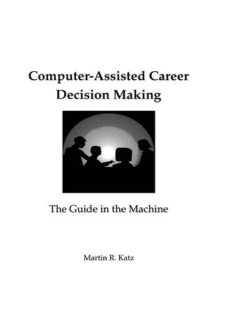 Computer-Assisted Career Decision Making The Guide in the Machine book cover