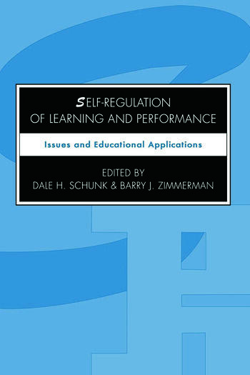 Self-regulation of Learning and Performance Issues and Educational Applications book cover
