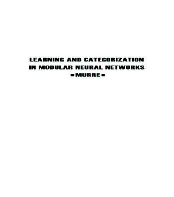 Learning and Categorization in Modular Neural Networks book cover