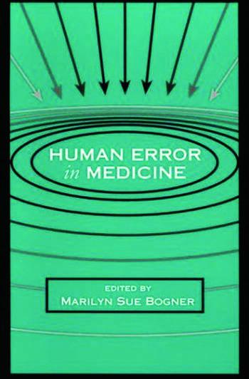 Human Error in Medicine book cover