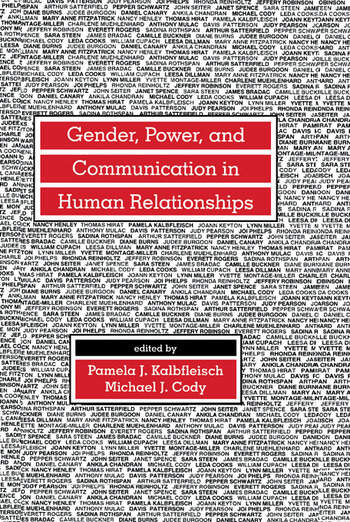 Gender, Power, and Communication in Human Relationships book cover