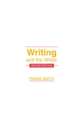 Writing and the Writer book cover