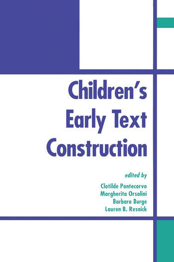 Children's Early Text Construction book cover