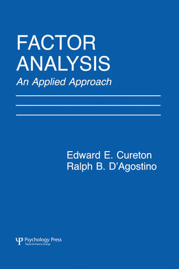 Factor Analysis An Applied Approach book cover