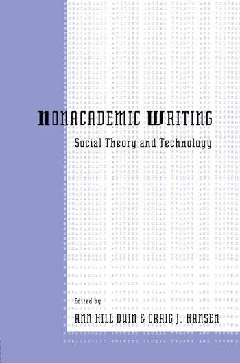 Nonacademic Writing Social Theory and Technology book cover