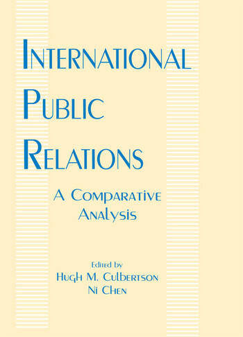 International Public Relations A Comparative Analysis book cover