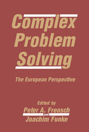 Complex Problem Solving The European Perspective book cover