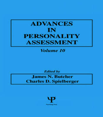 advances in personality assessment volume 10 crc press book