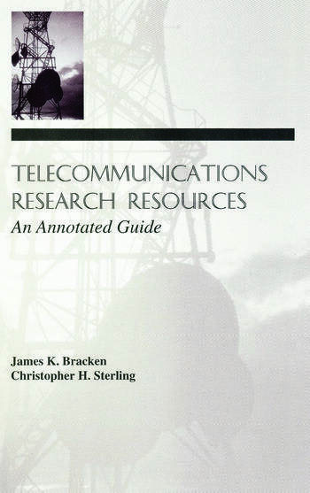 Telecommunications Research Resources An Annotated Guide book cover