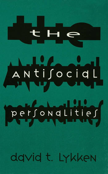 The Antisocial Personalities book cover