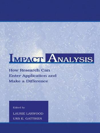 Impact Analysis How Research Can Enter Application and Make A Difference book cover