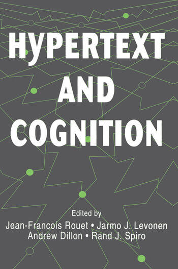 Hypertext and Cognition book cover