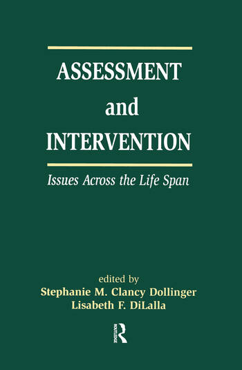 Assessment and Intervention Issues Across the Life Span book cover