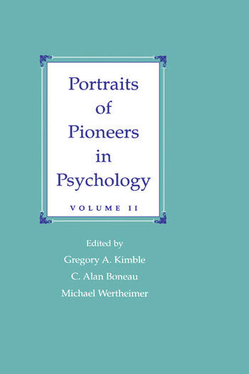 Portraits of Pioneers in Psychology Volume II book cover