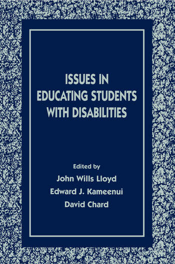 Issues in Educating Students With Disabilities book cover