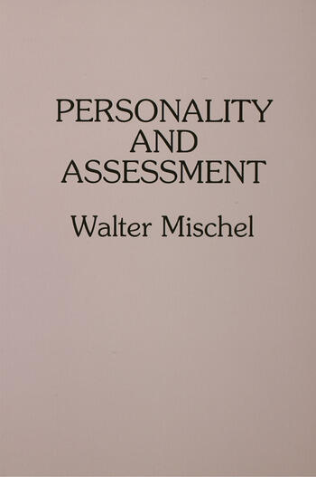 Personality and Assessment book cover