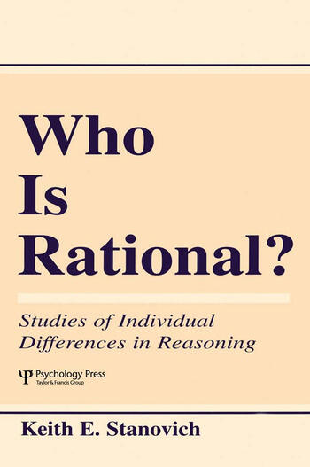 Who Is Rational? Studies of individual Differences in Reasoning book cover