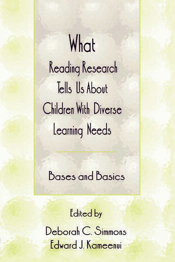 What Reading Research Tells Us About Children With Diverse Learning Needs Bases and Basics book cover