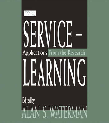 Service-learning Applications From the Research book cover