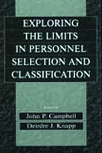 Exploring the Limits in Personnel Selection and Classification book cover