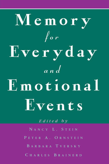 Memory for Everyday and Emotional Events book cover