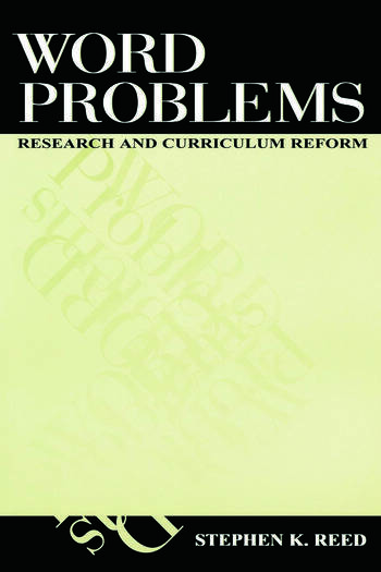 Word Problems Research and Curriculum Reform book cover