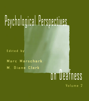 Psychological Perspectives on Deafness Volume II book cover