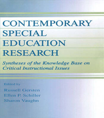 Contemporary Special Education Research Syntheses of the Knowledge Base on Critical Instructional Issues book cover
