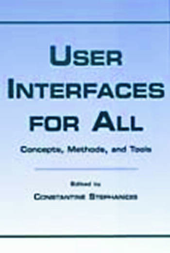 User Interfaces for All Concepts, Methods, and Tools book cover