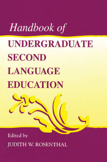 Handbook of Undergraduate Second Language Education book cover